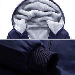 Image 4 - Brand Men Sets Autumn Winter Thick Fleece Sporting Suit 6XL Sweatshirt + Sweatpants Mens Clothing Sets Tracksuit Large Size 8XL