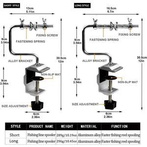 Image 2 - Linha de pesca spooler com braçadeira carretel de pesca linha spooler sistema vertical curvo linha de pesca winder