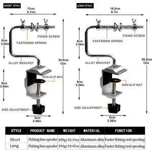 Image 2 - דיג קו ברקע עם מהדק סליל דיג קו Spool ברקע מערכת אנכי מעוקל וינדר