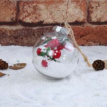 2019 hot Christmas Transparent Hanging Ball For Xmas Tree Bauble Clear Plastic Home Party Decorations Gift Craft