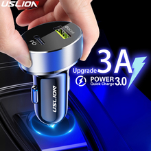 USLION 36W Quick Charge 3.0 USB Car Charger For iPhone 11 Pr