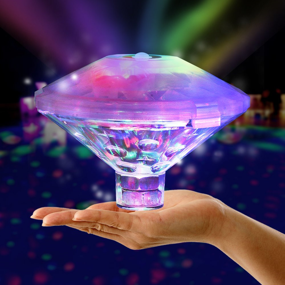 Плавающий подводный светильник RGB, погружной светодиодный, диско, вечерние светильник, светящееся шоу, бассейн, горячая ванна, светильник дл...