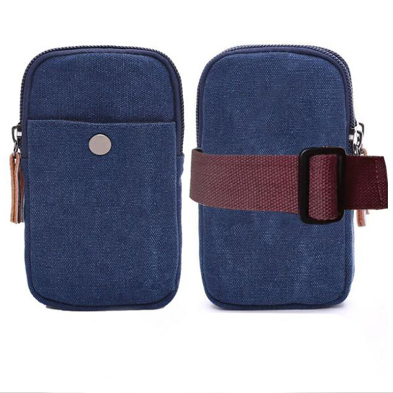 Waist Bags Men Waist Pack For Cell Phone Bag Travel Pouch Smal Card Holders Bolsas For Male Small Military Bag