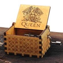 Королева деревянная музыкальная шкатулка ручной коленчатый музыкальная шкатулка тема богемный Рапсодия Рождественский подарок