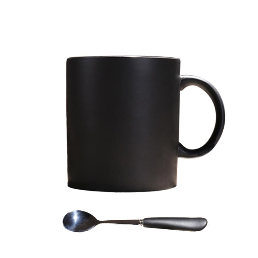 Matte Black Ceramic Coffee Mug Spoon