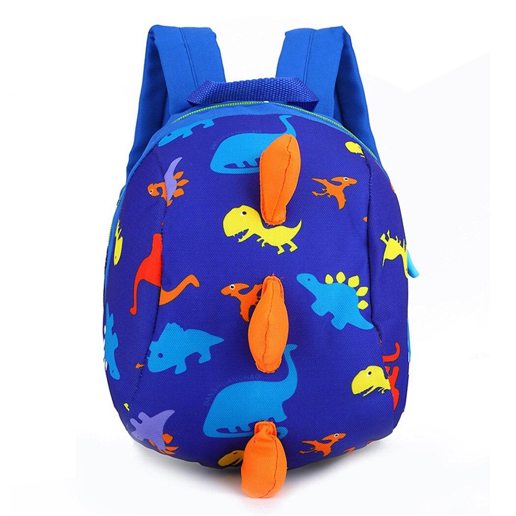 Mini mochila para niños pequeños, mochila para preescolar con correa, arnés de seguridad, bolsas para guardería, bonitos estampados de dinosaurio