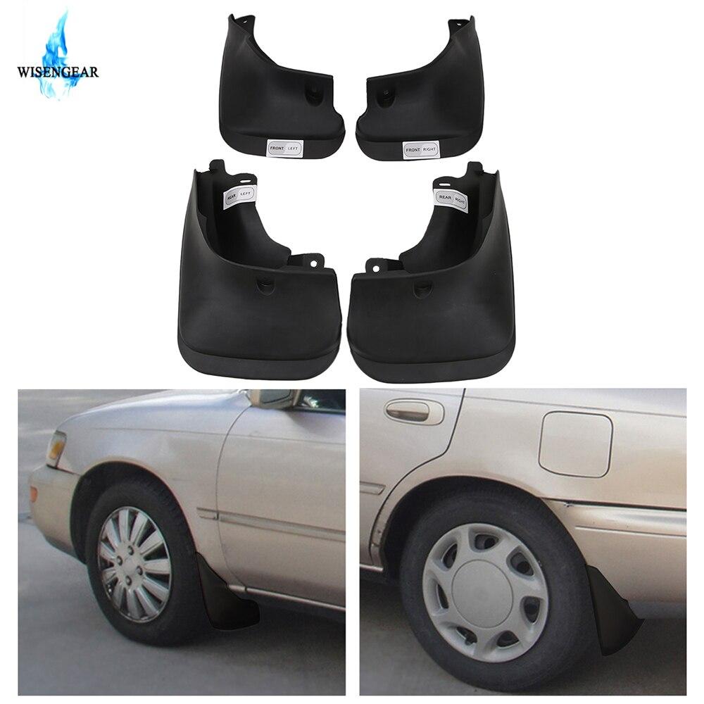 Para toyota corolla mud flaps respingo guardas carro moldado para-lamas 4 porta sedan dx lx xe se 1993 1994 1995-1997 wisengear/
