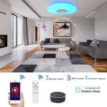 Умный современный светодиодный потолочный светильник с Wi Fi, 36 Вт, с приложением Bluetooth, музыкальный потолочный светильник для спальни, умный потолочный светильник