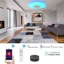สมาร์ท WiFi โมเดิร์น LED โคมไฟเพดาน Home Lighing 36W APP บลูทูธเพลงโคมไฟเพดานโคมไฟสมาร์ทโคมไฟเพดาน