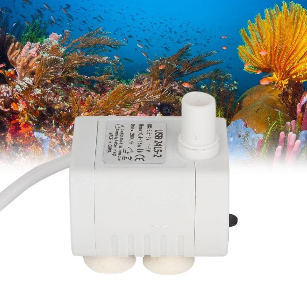 200L H White USB Mini Pump Submersible Water Pump For Fish Aquarium font b Pet b