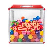 Lottery-Box Detachable Activity Acrylic Party 30cm Transparent B8085 Medium