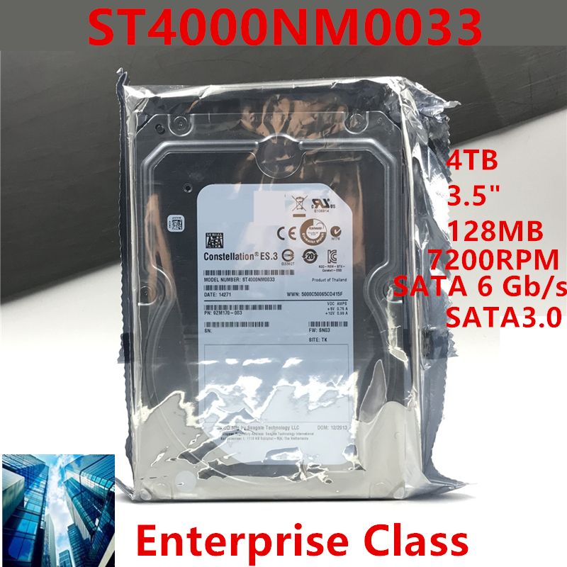 """New HDD For Seagate Brand 4TB 3.5"""" SATA 6 Gb/s 128MB 7200RPM For Internal HDD For Enterprise Class HDD For ST4000NM0033 1"""