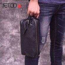 AETOO Clutch bag men's leather retro trend casual clutch