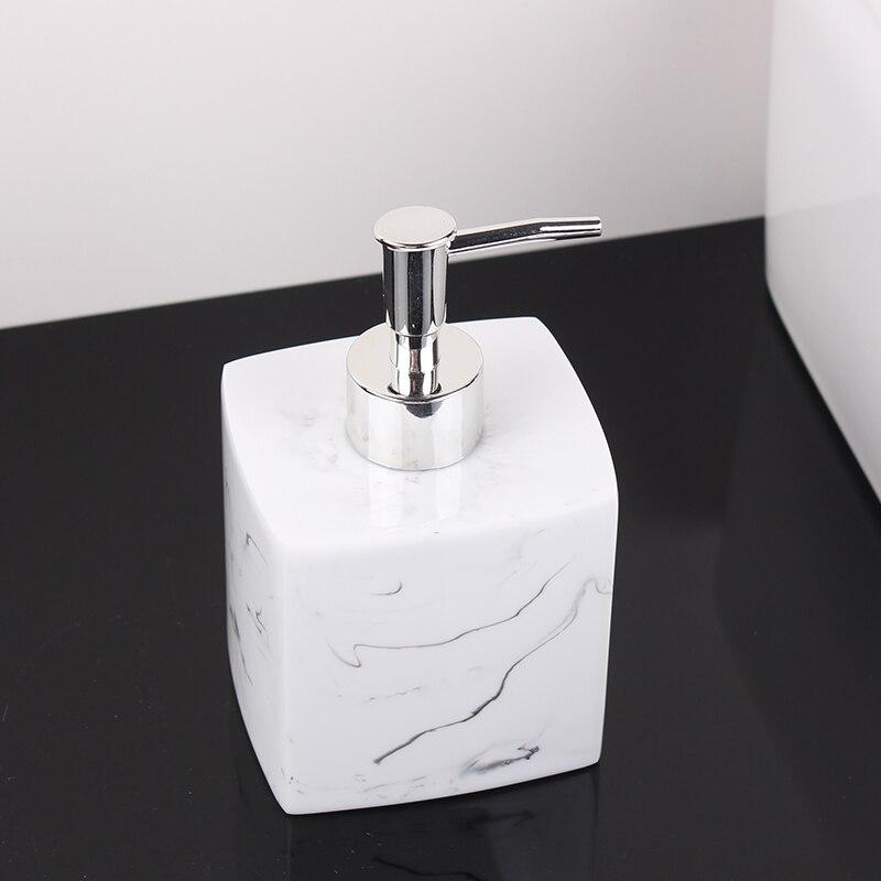Marble Texture Hotel Hand Soap Bottle Nordic Pressing Bottle Shampoo Shower Gel Bottled Soap Dispenser Lotion Empty Bottle Set