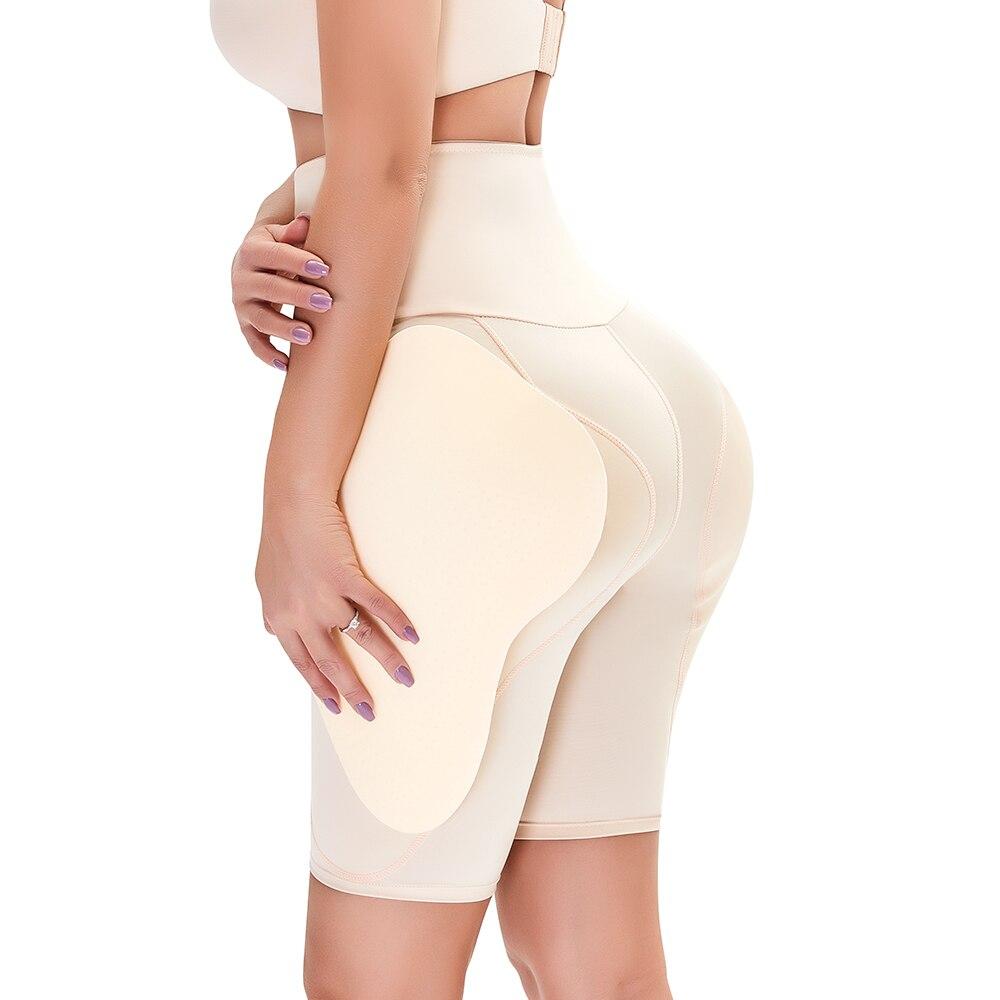 Fake Ass Women Tummy Control Butt Lift Panty Compression Shorts High Waist Trainer Body Shaper Hip Pads Enhancer Booty Lifter