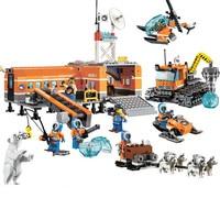 BELA Original bricks Arctic Base Camp City Police Snow Truck Model building blocks Toys For Children Gifts 10442