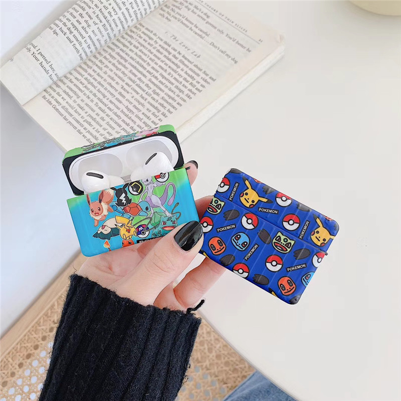 Cute Cartoon Anime Character Pokemon Case Cover for Airpod 1st /& 2nd Gen