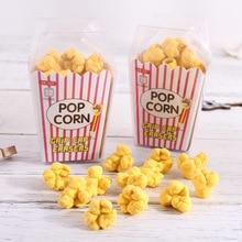 1 Box Cartoon Cute Popcorn Design Eraser Food Rubber Pencil Erasers Children Prizes Stationery School Supplies Kids Gift