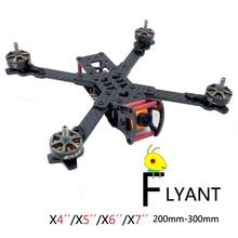Flyant-X4/X5/X6/X7 200 /230/260/300mm FPV Racing Drone Frame Carbon Fiber Quadcopter Frame Kit emax nighthawk 250 pro ii pure carbon fiber quadcopter multicoptor frame kit