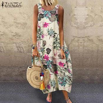 Floral Printed Long Dress Cotton 1