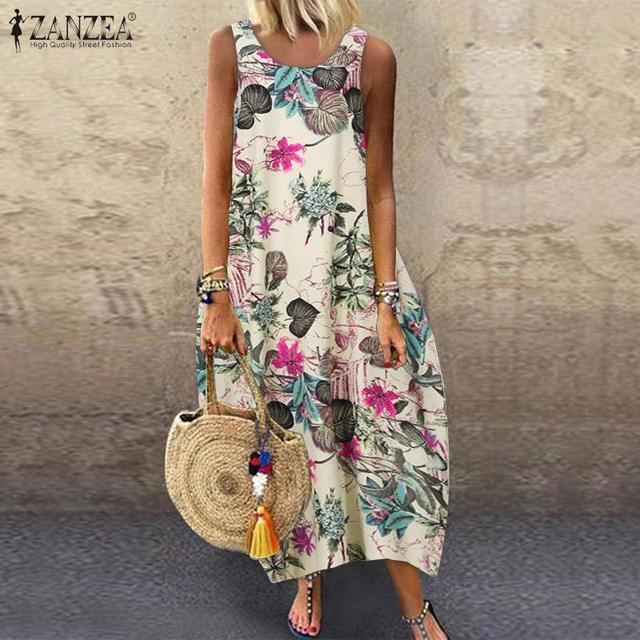 Floral Printed Long Dress Cotton 1