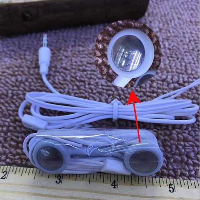 10 stücke 3,5mm Verdrahtete kopfhörer flache ohr Mini stereo bass musik kopfhörer für huawei/xiaomi universal sport ohrstöpsel heißer verkauf