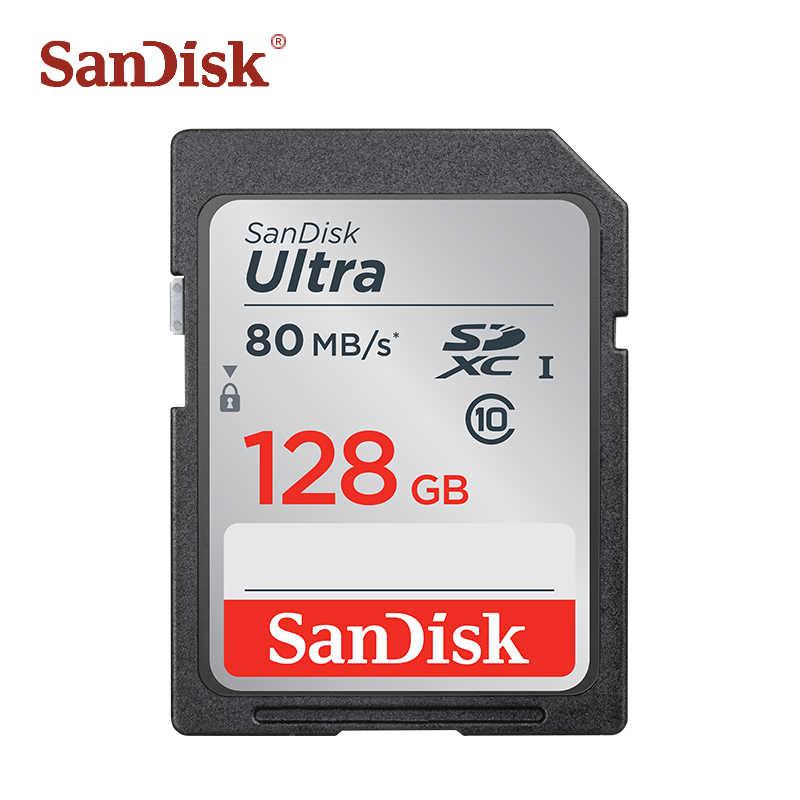 سانديسك SD بطاقة 128GB 64GB 32GB 16GB الترا ماكس 80 برميل/الثانية القراءة سرعة الدرجة 10 ذاكرة بطاقات UHS-I SDHC/SDXC للكاميرا الفيديو