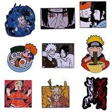 Recente naruto-tema esmalte pinos uzumaki hinata sharingan ninja anime broche japão manga fãs coleção legal