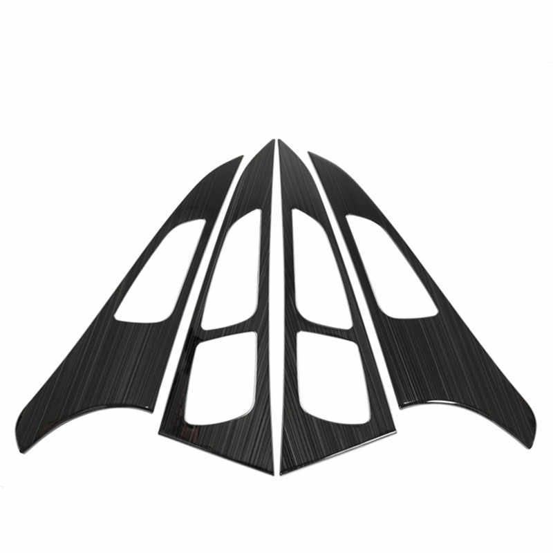 لوحة باب السيارة الزخرفية غطاء الكسوة لأودي A6 C7 2012-18 الداخلية وحدة التروس إطار شرائط فتحات الهواء ملصقات