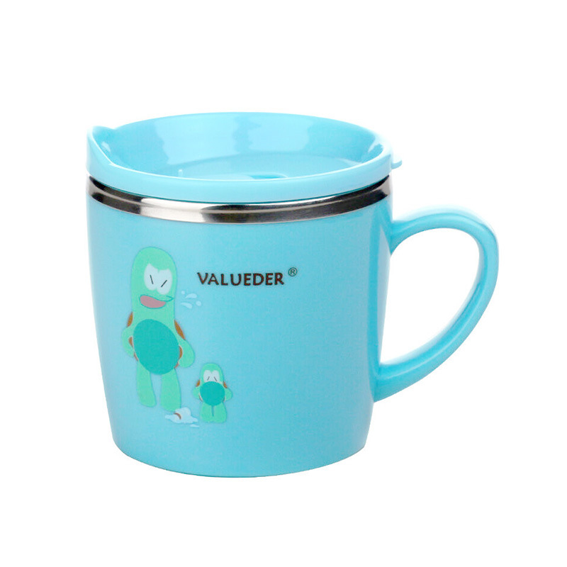 Wei Lun Seoul Children Stainless Steel Single Ear Insulated Cup Children Sippy Cup Kindergarten Dan Er Bei Manufacturers Wholesa