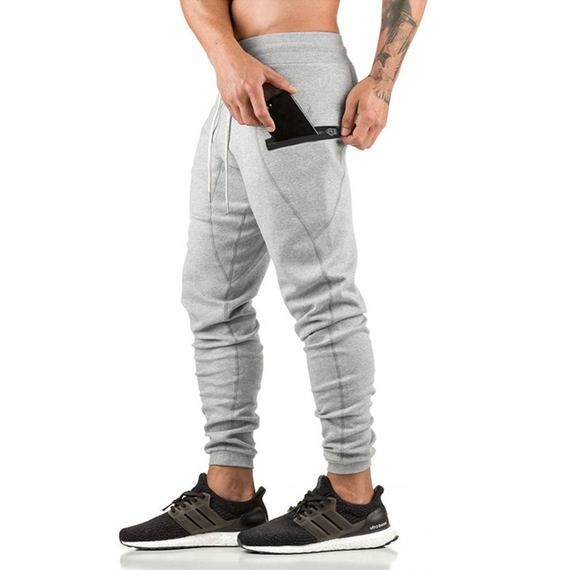 Fitness Territory Autumn And Winter Athletic Pants Men's 2018 New Style Pure Cotton Sweatpants Men Running Fitness Trousers Skin