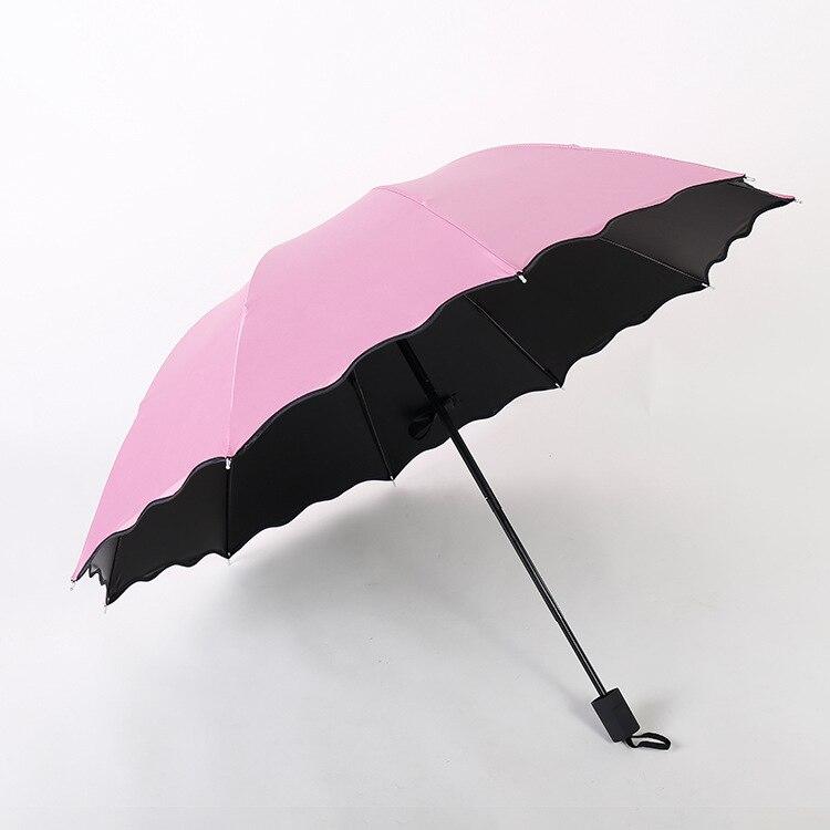 Wholesale Ultra Large 10 Bone Water Open Vinyl Parasol UV-Protection Parasol Three Fold Umbrella