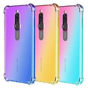 Модный градиентный чехол для телефона Xiaomi Mi Note 10 Pro CC9 CC9E, подушка безопасности, мягкий силиконовый чехол для Redmi 8 8A 7 7A GO 6 Pro, чехол