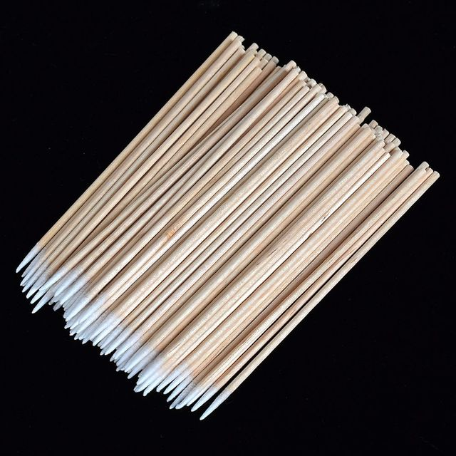 100 pcs Disposable Ultra-small Brushes Swab Lint Free Micro Brushes Eyelash Extension Tool Lash, Glue Removing Tool 3