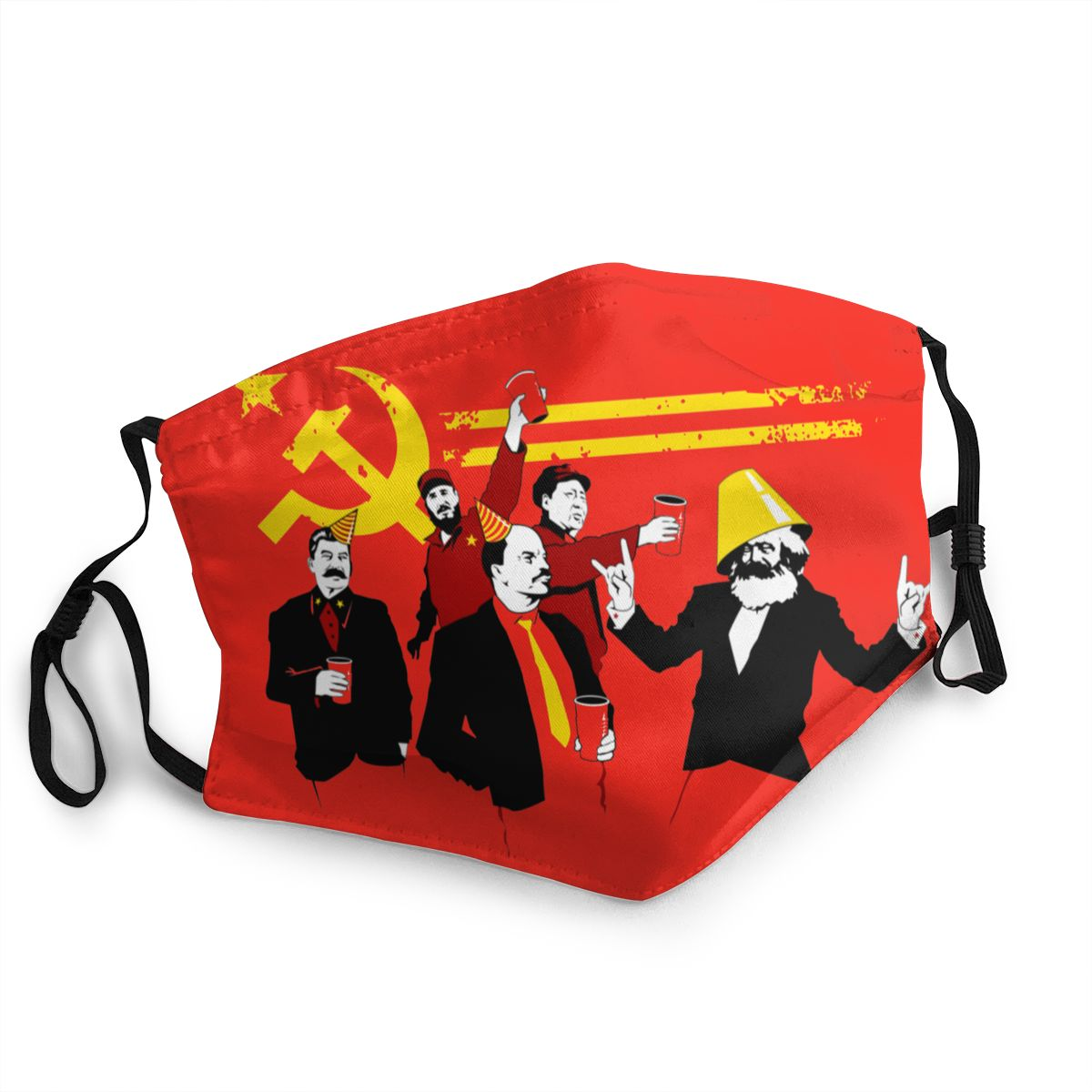 The Communist Party Non-Disposable Mouth Face Mask Russian Lenin Anti Haze Dustproof Mask Protection Respirator Muffle