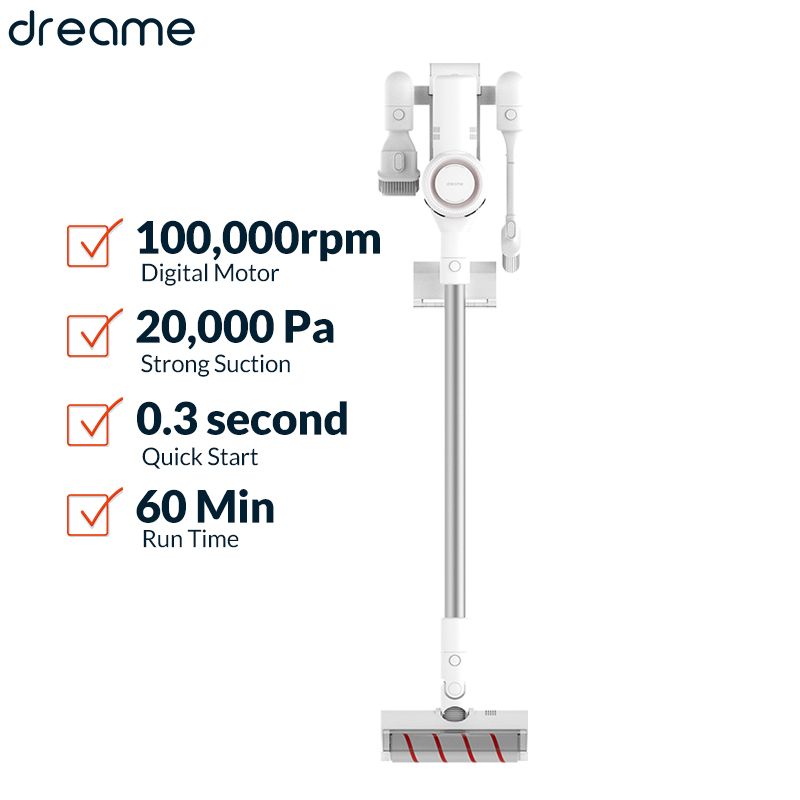 Dreame V9 Handheld Wireless Vacuum Cleaner 20Kpa Portable Cordless Cyclone Filter Carpet Dust Collector Carpet Sweep Vacuum