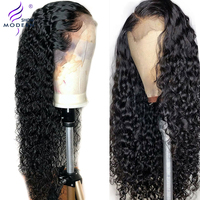 Brazilian Water Wave Wig Lace Frontal Human Hair Wigs with Baby Hair PrePlucked Natural Hairline 150% Remy Hair Wigs Modern Show