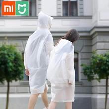 Xiaomi Mi Zaofeng Portable EVA Folding Raincoat Ultralight Waterproof Rainwear Hood Sleeves Poncho Outdoor Camping from Youpin