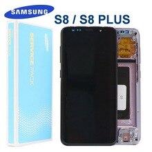الأصلي LCD مع الإطار لسامسونج غالاكسي S8 S8 + S8plus G950 G950F G955FD G955 LCD شاشة تعمل باللمس مكونات + الميت بكسل