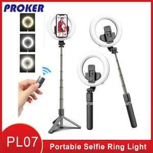 Make-Tripod-Stand Selfie-Ring Proker Built-In-Battery Portable with Led-Lamp To for Makeup