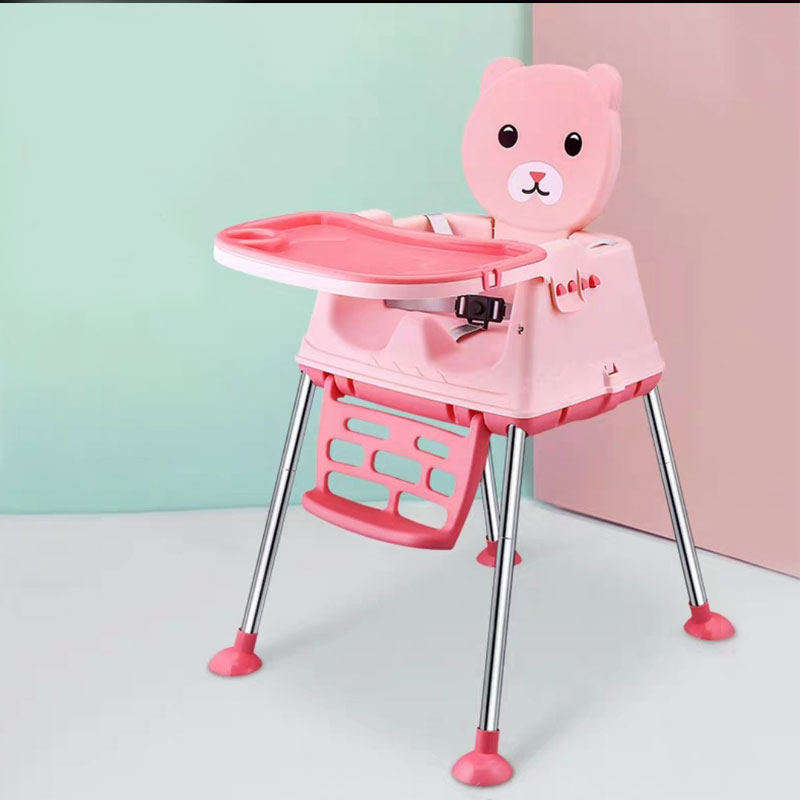 Children  Dining Chair Seat Multifunction Foldable Portable Detachable Foot Pad 0~6 Years Old Children's High Feet Feeding Chair