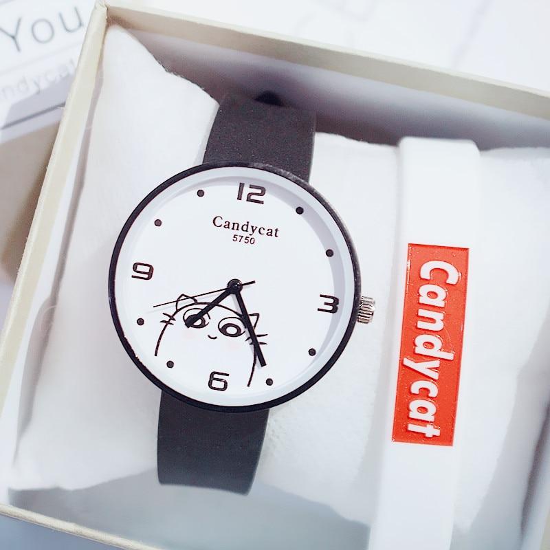 Cute Ladies Watch Leather Band Fashion Casual Women's Watches Male Clock Quartz Wristwatch Drop Shipping Zegarek Damski Gift