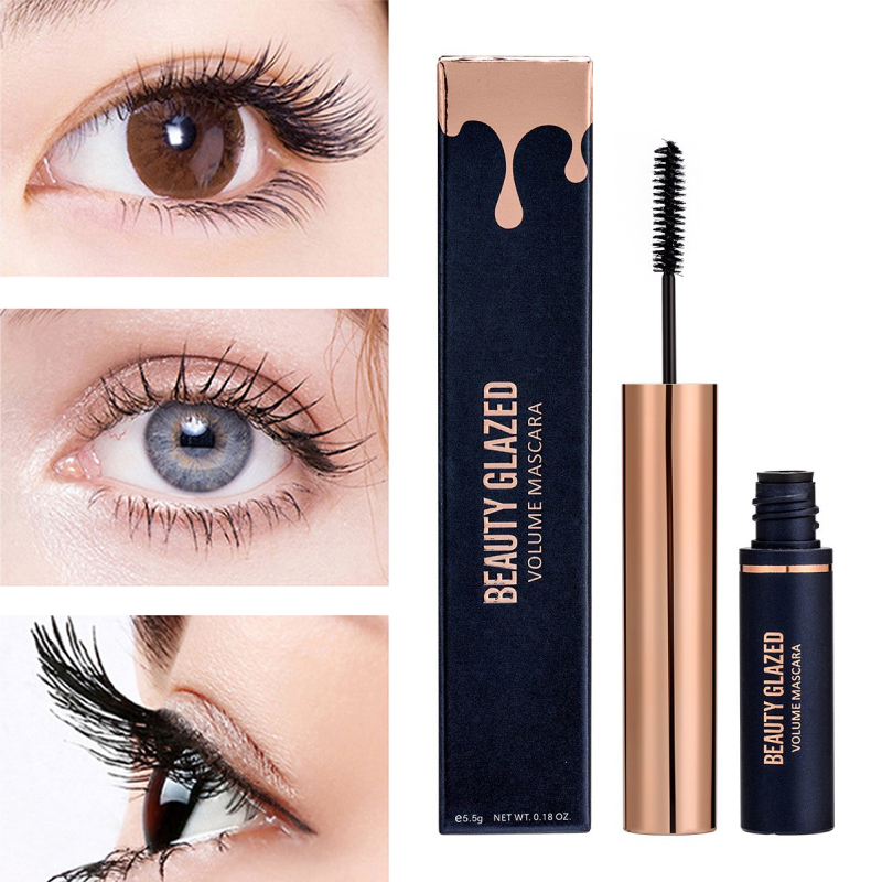 BEAUTY GLAZED Mascara Smudge proof Black Curling Lengthening Volum Thick  Mascara Waterproof Eyelash Extension Cosmetics TSLM1| | - AliExpress