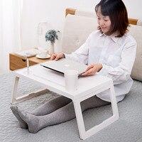 Складная портативная подставка для ноутбука компьютерный стол для чтения ленивая кровать маленький стол Противоскользящий стол офисная м...