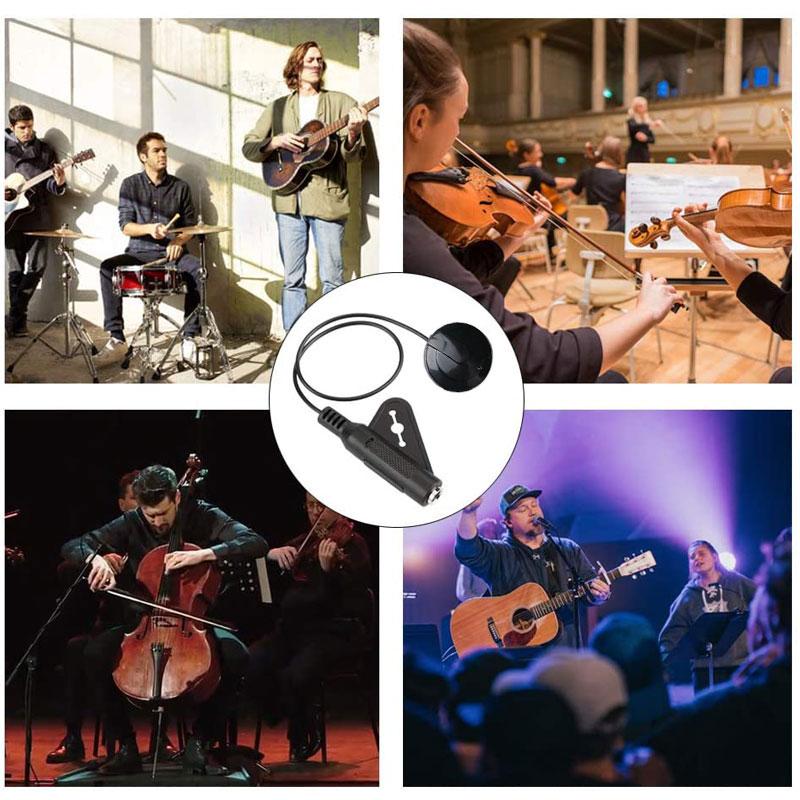 Guitarra acústica captador piezo transdutor contato captador para guitarra popular ukulele violino bandolin banjo kalimba harpa acessórios-5