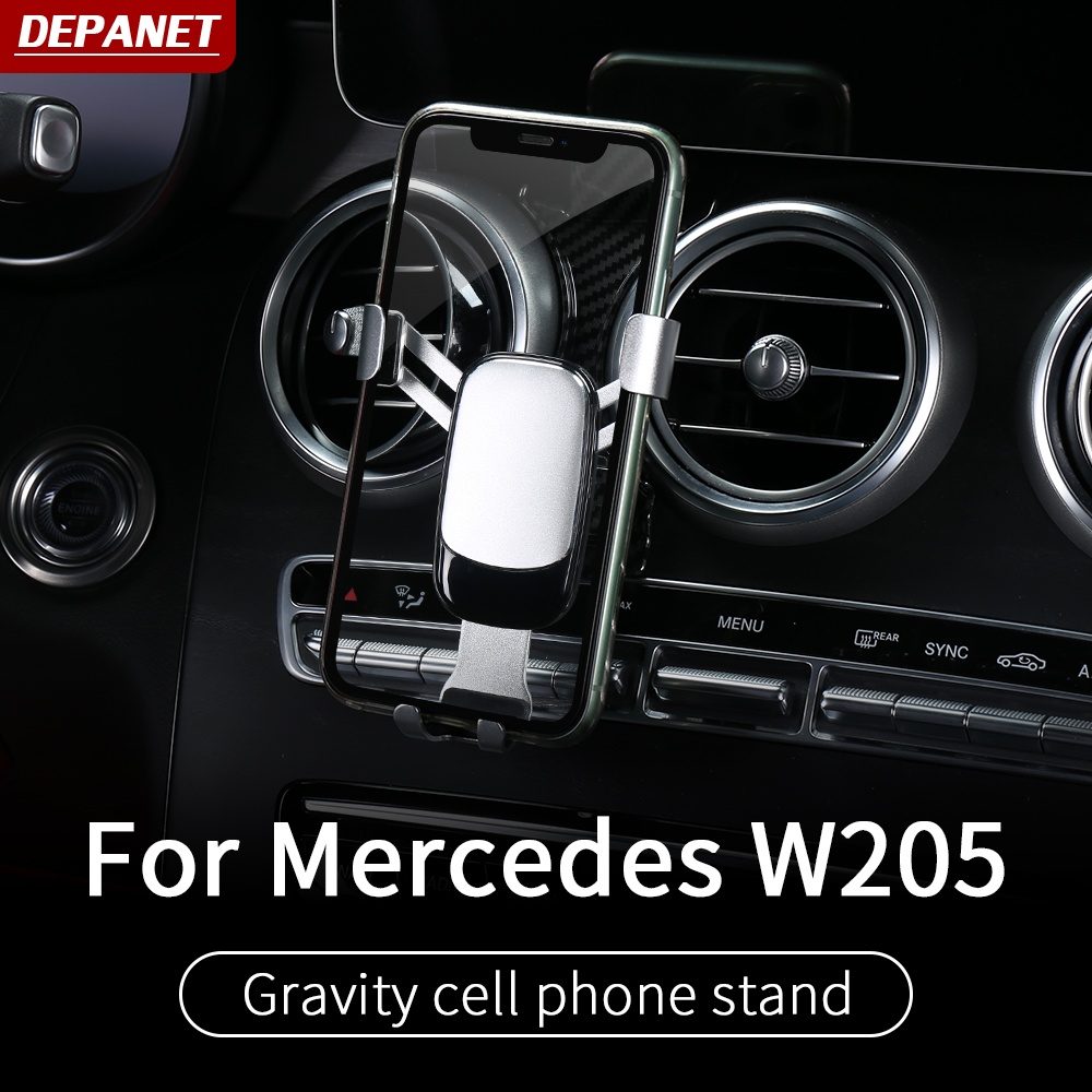car phone holder ForMercedes <font><b>w205</b></font> <font><b>amg</b></font> <font><b>c200</b></font> c260 c300 glc x253 coupe mercedes c class accessories <font><b>w205</b></font> interior trim image