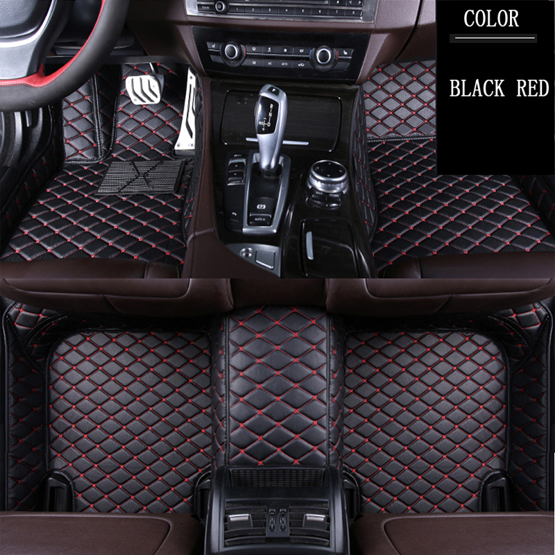 13 on RED TRIM Tailored Car Mats 4 Clip VAUXHALL ADAM