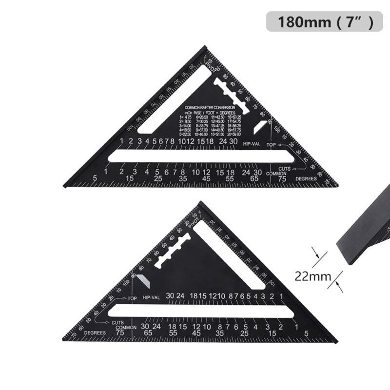 7 12 Liga de Alumínio Triangular Polegada