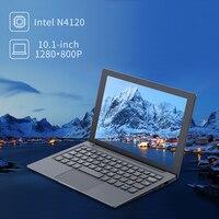 10.1'' Mini Metal Laptop Intel N4120 Quad Core 6GB RAM 128GB ROM Notebook PC 2.6GHz USB3.0 TF Card Port Slim Netbook Ultrabook 1