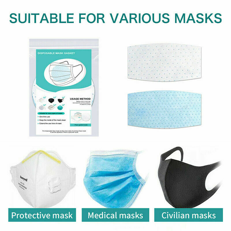 New Face Masks 100 Pieces Mask Accessories Adult Pad Non-woven Universal Anti-dust Replacement Protective Safety Pad White 2020